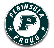 Peninsula  Girls Track Logo
