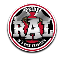 R A Long  Girls Track Logo